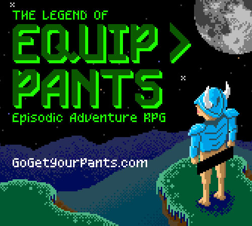 Legend of Equip > Pants Title Screen.